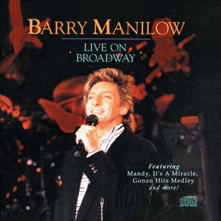 Barry Manilow Live on Broadway Album Artwork