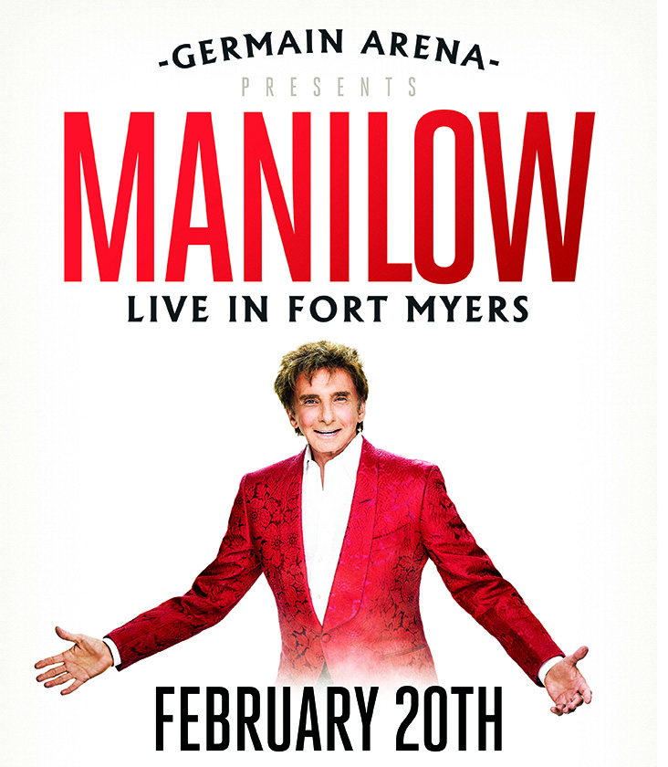 Germain Arena presents Manilow Live in Fort Myers on February 20th.
