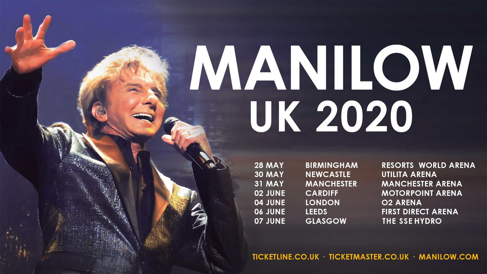 BARRY MANILOW ANNOUNCES UK 2020 CONCERTS!