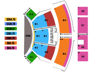 Manilow Las Vegas Seating Chart